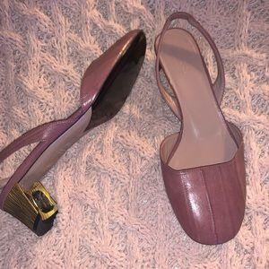 NIB Gucci Anguilla Malaga Mauve leather heels